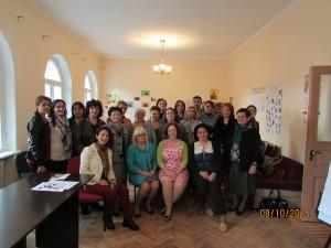 Participants of the workshop with Dr. Kristina Akopyan, Ms. Serine Sahakyan and Dr. Sarah Kagan